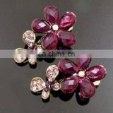 2013 newest fashion alloy flower rhinestone hair clip