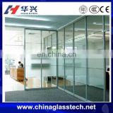 Energy saving single/double tempered/toughed glazed glass reclyed waterproofnormal aluminum alloy profile sliding partition wall