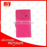 Wholesale Fashion Folio Wallet PU Leather Case With Sucker Inside Cover For Samsung Galaxy SIIII S4 i9500, Mix Color