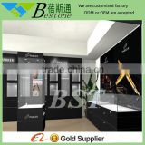 glass pens vitrine free standing display cabinet,wooden glass display cabinet