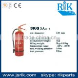 Brand since 1989!china leading safety manufacturer RIK top selling 3KG 130mm powder fire extinguisher