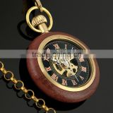 WP122 Golden Color Pocket Watch Antique Style Vintage Mechanical Movement Watches