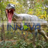 Animated dinosaur figure for dinosaur playground equipment