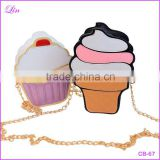 Women Cupcake Ice Cream Shape Crossbody Bags