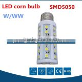 2016 high bright popular 24pcs e27 led smd corn bulb lamp, led warm white corn light 4W led corn lamp bulb smd5050