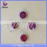 Best selling AAA red zircon stone set factory direct price thai silver imitation jewelry set ( 9353T7)