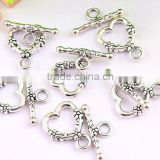 Wow!!! Fashion Wholesale metal alloy heart toggle clasps/magnetic clasps for jewelry !!!!