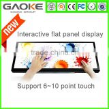 "47"" to 100 "" 4K wall mount/table stand usb capacitive android led digital display video screen panel mount touch screen monitor"
