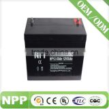 12v50ah China factory long life rechargeable battery maintenance free battery for telecom
