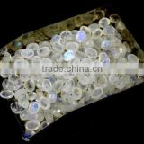 AAA Beautiful Natural White Rainbow Moonstone Cabs 6X8mm Loose Gemstone Beads Bead Cabochon Beads