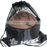factory price polyester drawstring bag with mesh for basketball football packing                                                                         Quality Choice