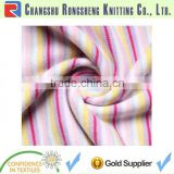 cotton yarn dyed stripe interlock knitted fabric