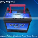Japanese standard car battery lead acid battery 65AH,12V SMF automotive battery 65D23R-MF