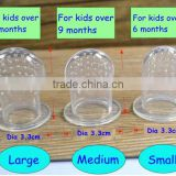 Silicone nipple in 3 sizes suitable for baby in differernt age