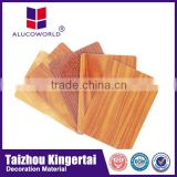 Alucoworld plastic aluminum composite panel acp cladding material exterior wood wall cladding
