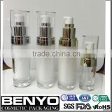 Best selling China supplier plastic pump packaging round bottom cosmetic bottle 15ml acrylic bottles