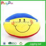 Partypro Hotsale New Product 2015 High Quality Wholesale Stuffed Plush Rugby Ball Juggling Ball