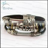 decorative rivets leather bracelets braided leather bracelet personalized leather bracelets