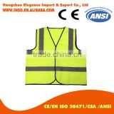 Polyester Reflective Safety Waistcoat Life Preservation Vest Roadway Safety Vest