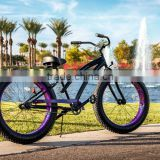 "26""*4.0 fat tire bikes adult beach bike single speed coaster brake beach cruiser bike"