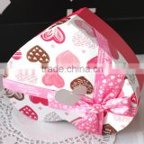 Factory direct wholesale high quality paperwith ribbon customized candy box