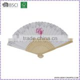 Wedding Gift White Plain Bamboo Paper Folding Hand Fan                                                                         Quality Choice