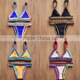Hot sale good quality handmade crochet braided bikini swimwear for young girl                                                                         Quality Choice