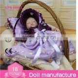 16 inch Cute Reborn Baby Doll Hot selling OEM silicone reborn baby dolls toys wholesale Sleeping Girl doll