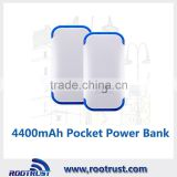 Universal portable mobile power bank charger 4400mAh