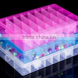 2016 new design 24 slots adjustable multi compartments storage plastic organizer jewellery boxes
