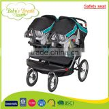 BS-39A travel system safety seat belt good baby double stroller for reborn baby
