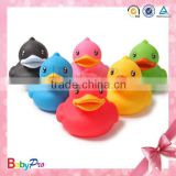 2015 hot sell eco-friendly material animal pattern custom rubber duck promotional rubber ducks