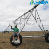 Water saving center piovt irrigation farm equipment with Overhang