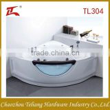 Freestanding Made in China Glass Triangle Special Design Water Pump Massage Bathtub
