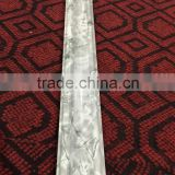 2016 new marble design interior building material PVC artificial marble line, marble plastic skirting