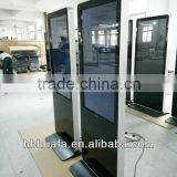 "42"" floor standing network LCD advertising screens player, multi touch screen kiosk"