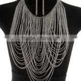 Newest triangle jewelry manufacturer china cross body chain