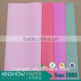 Colorful dots foaming non woven sheets for flower wrapping paper.                                                                         Quality Choice