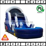 hot sale big cheap backyard inflatable water slides with swimming pool, inflatable water slide park for kids and adults play