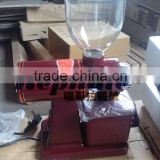 electric red, black small roasted coffee bean grinder, fine coffee bean powder making machine