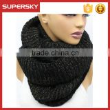 A-68 winter women large knit scarf oversized knitting chunky scarves knitted infinity neck warmer scarf