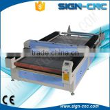CNC CO2 Laser Cutter / printing fabric laser cutting engraving machine for textile, garments