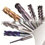 2,4, flutes solid carbide end mill cutter , square, ball and nose, round corner end mill cutting tool