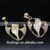SJ3138 925 sterling silver scarf jewelry pendant, silver pave diamond pendant, crystal pave pendant