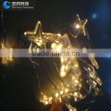 5 corner led copper wire led star light camera with high bright and high quality flexible silver wire