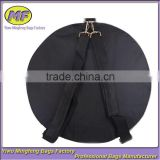 Custom High Quality Black 600D Oxford Waterproof Round Bass Drum Bag