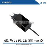 Dongguan factory 60W Type C Wall mount Laptop adapter AD-390 (CE approval)