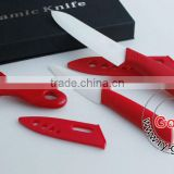 "RED 6""+ 4"" White Ceramic Knife + a Peeler Set 3pcs 4 inch Fruit 6 inch Chef Ceramic knife Set"