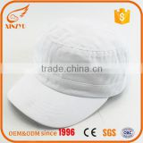White custom badge 100% cotton sport plain military caps promotion