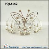 Silver rhinestone butterfly king crown decorations